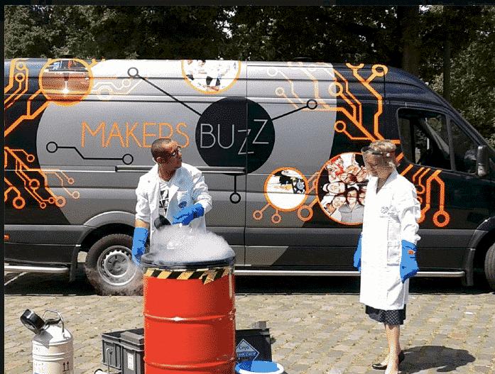 referenties, klanten, educatie - mobiele laser cubiss makersbuzz provincie project