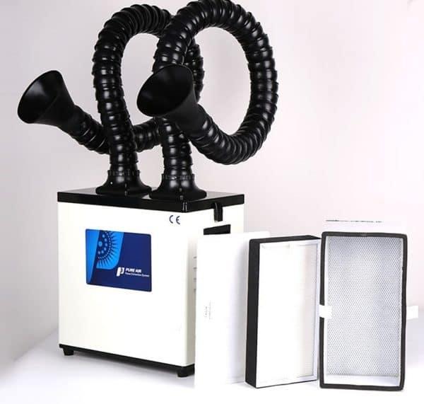 q-switched-fiber, onderdelen, mopa-fiber, filter-systemen, fiber-lasers - afzuiging filterinstallatie fiberlaser dubbel | scrubber-300