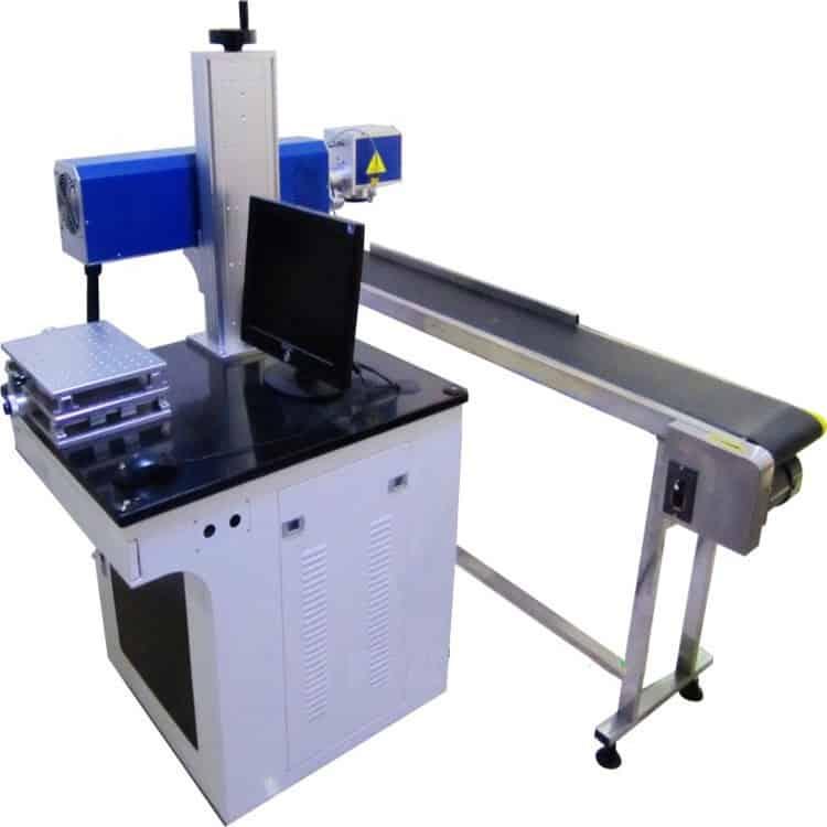 q-switched-fiber, productiewerk, onderdelen, mopa-fiber, fiber-lasers, accesoires - transportband fiber laser automatisering