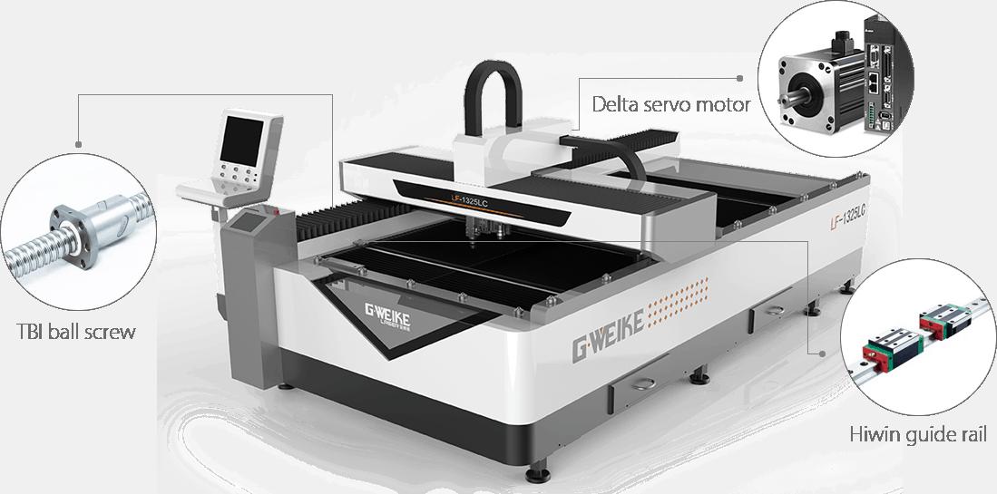 metaal-laser-open, co2-laser-machines, budget-fiberlaser-snijmachines - GEMINI combi fiber en CO2 laser 250 x 130 cm.