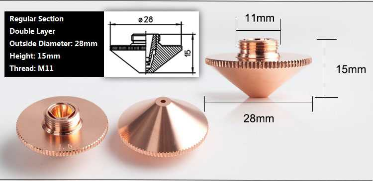 onderdelen, accesoires - fiber laser nozzle lasertip snijkop slijtdelen