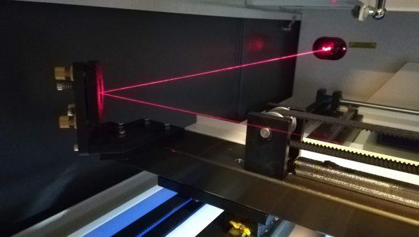 lenzen, accesoires - beam combiner lens voor CO2 lasers met rood licht pointer