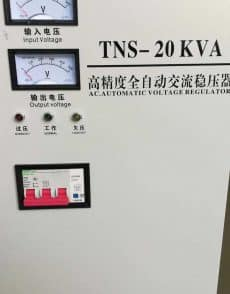 onderdelen, precisie-fiber-lasers, fiber-lasers-metaal-laser, industriele-fiber-lasera - TNS-20KVA spanning stabilisator 220 / 400 volt